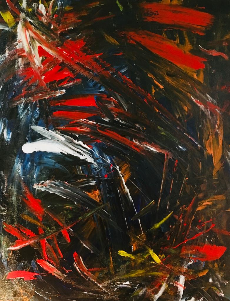 Improvisation 10719 (80x60 cm, acrylic on canvas, Lino Luis Garcia Espinosa)