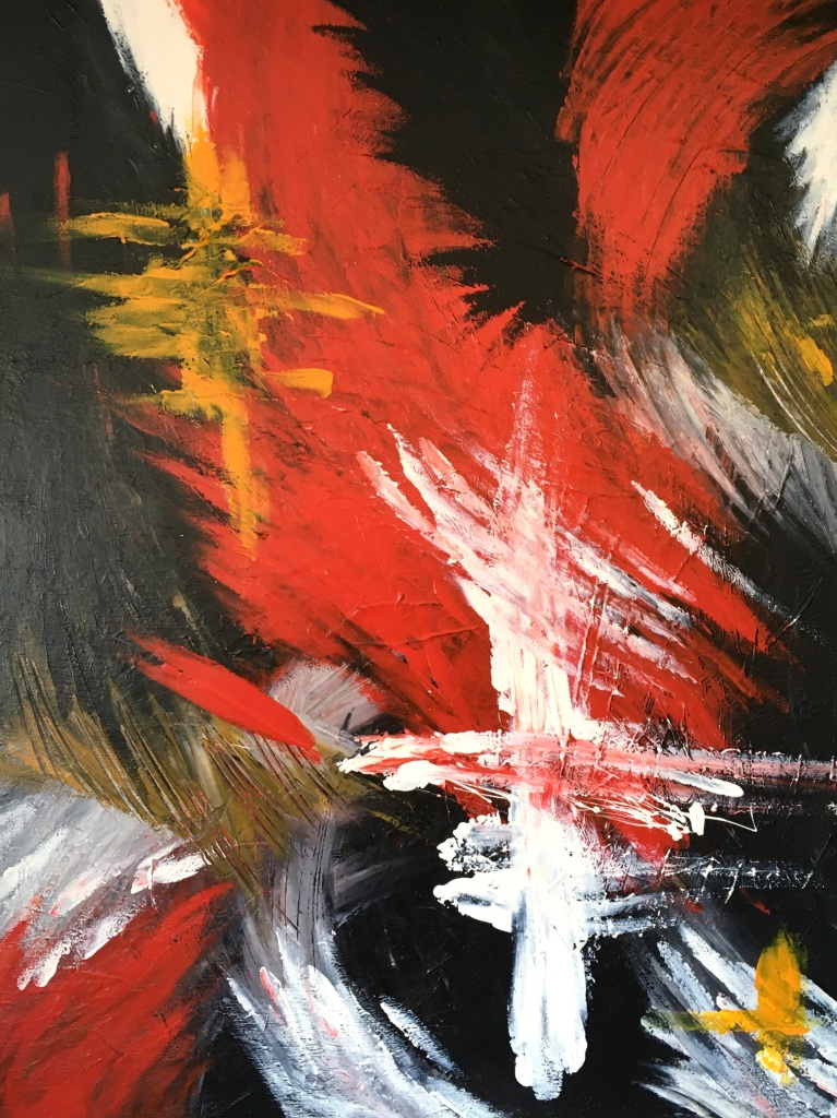 Improvisation 451 (2020, acrylic on canvas, 80×60 cm, Lino Luis Garcia Espinosa)