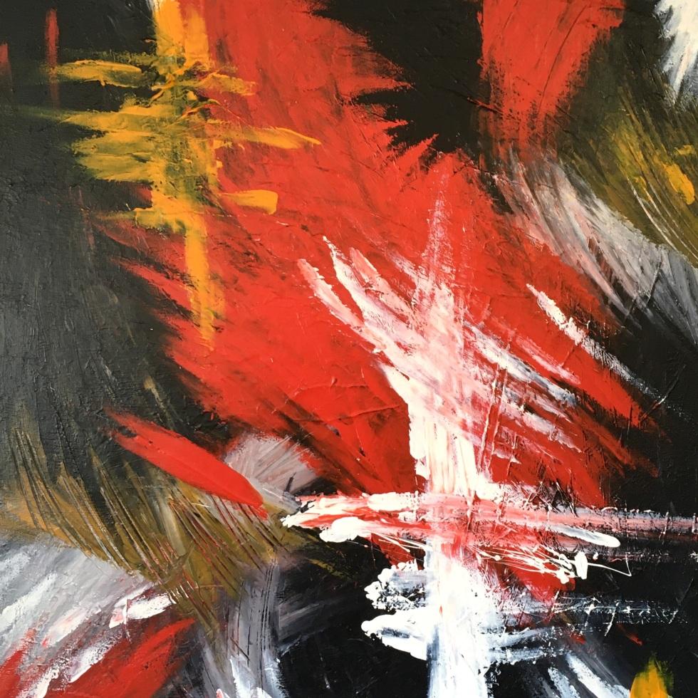 Improvisation 451 (2019, acrylic on canvas, 80×60 cm, Lino Luis Garcia Espinosa)