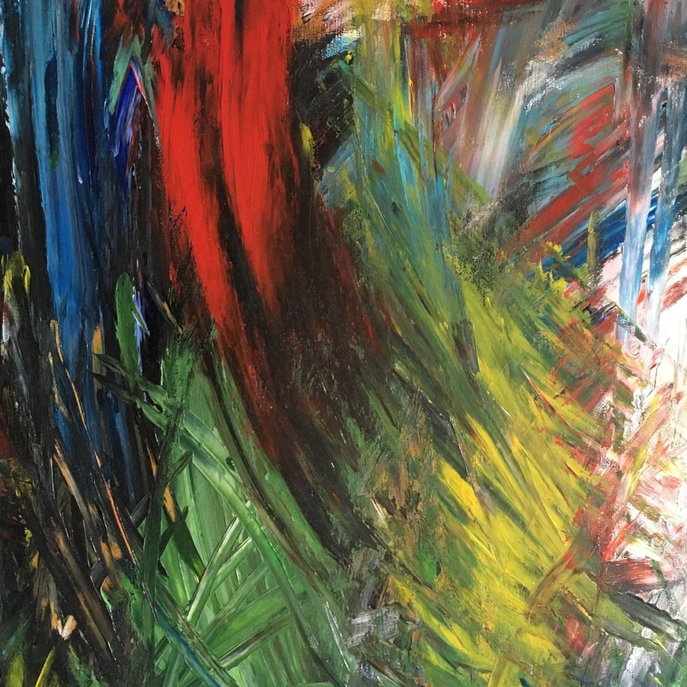 Improvisation 520 (2019, acrylic on canvas, 80×60 cm, Lino Luis Garcia Espinosa)